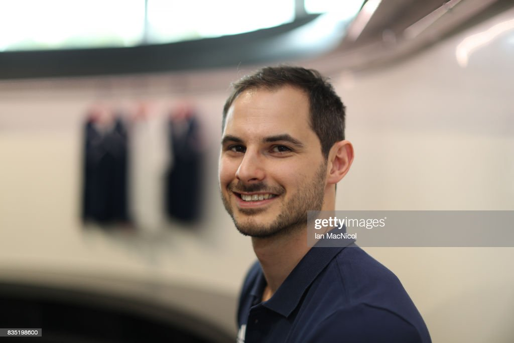 PyeongChang Winter Olympic hopeful Dom Parsons poses for photographs at The Orium sports complex on August 18, 2017 in Edinburgh, Scotland.