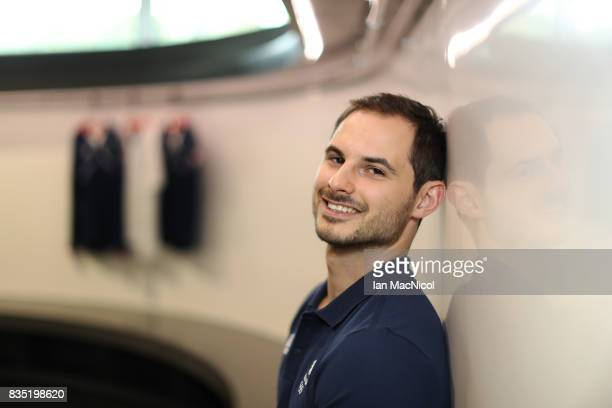 PyeongChang Winter Olympic hopeful Dom Parsons poses for photographs at The Orium sports complex on August 18 2017 in Edinburgh Scotland