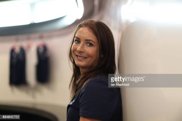 PyeongChang Winter Olympic hopeful Eve Muirhead poses for photographs at The Orium sports complex on August 18 2017 in Edinburgh Scotland