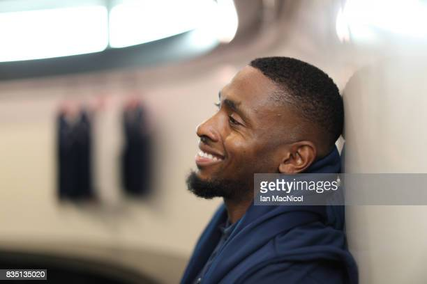 PyeongChang Winter Olympic hopeful Joel Fearon poses for photographs at The Orium sports complex on August 18 2017 in Edinburgh Scotland