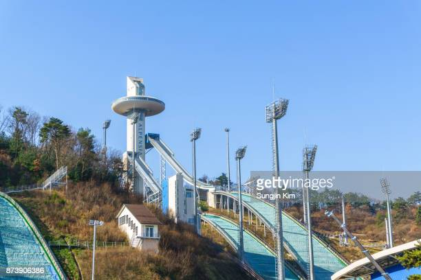 2018 pyeongchang winter olympic venue - sungjin kim stock pictures, royalty-free photos & images