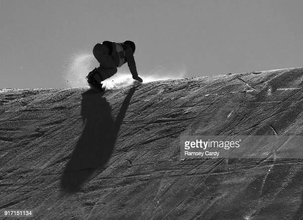 Pyeongchanggun South Korea 12 February 2018 Hailey Langland of USA in action during the Ladies Snowboard Slopestyle Final on day three of the Winter...