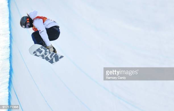 Pyeongchanggun South Korea 12 February 2018 Hikaru Oe of Japan in action during the Ladies Halfpipe Qualification on day three of the Winter Olympics...