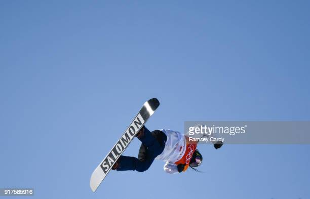 Pyeongchanggun South Korea 13 February 2018 Haruna Matsumoto of Japan in action during the Snowboard Ladies Halfpipe Final on day four of the Winter...