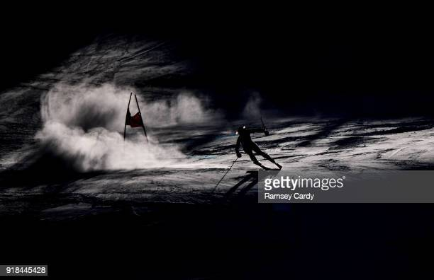 Pyeongchanggun South Korea 15 February 2018 Tessa Worley of France in action during the Ladies Giant Slalom on day six of the Winter Olympics at the...