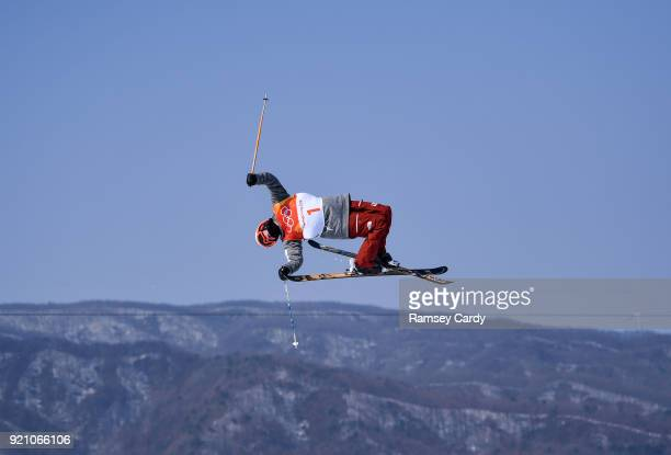 Pyeongchanggun South Korea 20 February 2018 Alex Ferreira of USA in action during the Ski Halfpipe Qualifications on day eleven of the Winter...