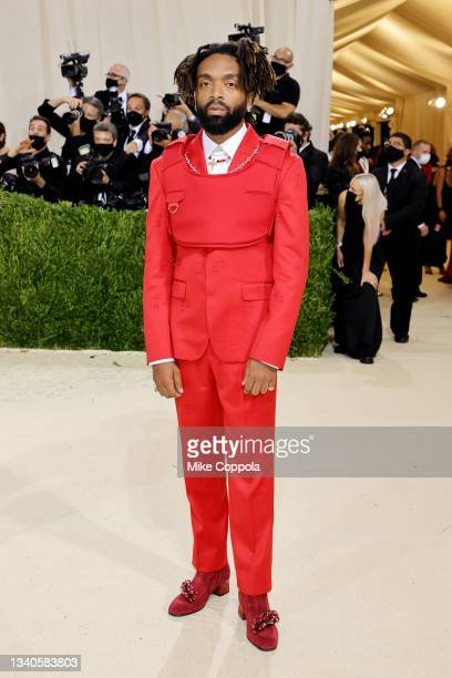 Pyer Moss designer Kerby Jean-Raymond attends The 2021 Met Gala Celebrating In America: A Lexicon Of Fashion at Metropolitan Museum of Art on...