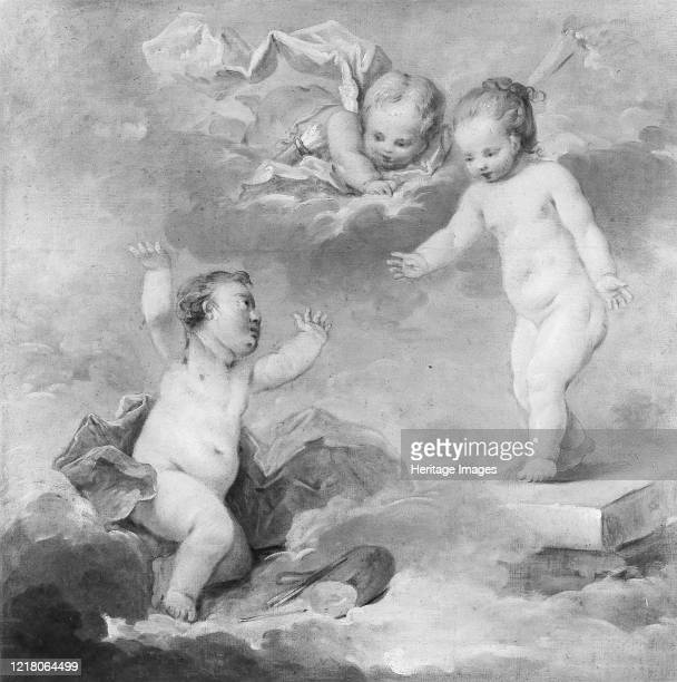Pygmalion and Galatea as Infants, 18th century. Artist Unknown.