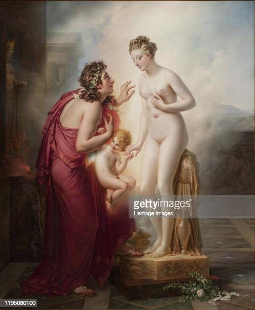 Pygmalion and Galatea, before 1819. Found in the Collection of Musée du Louvre, Paris. Artist Girodet de Roucy Trioson, Anne Louis .
