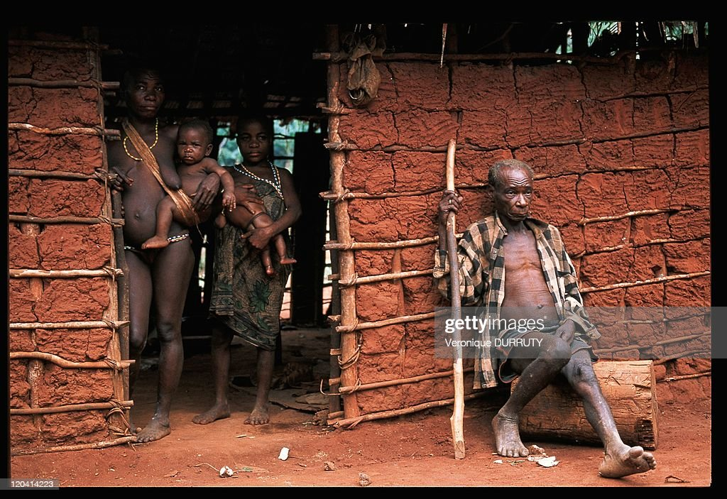 Pygmies Family In Central African Republic - : News Photo