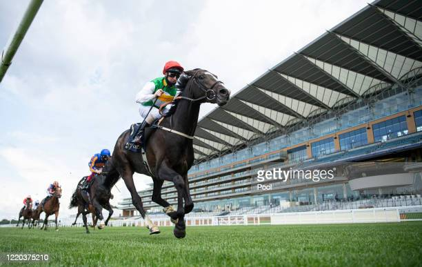 Pyledriver ridden by Martin Dwyer wins the King Edward VII Stakes at Ascot Racecourse on June 16, 2020 in Ascot, England.