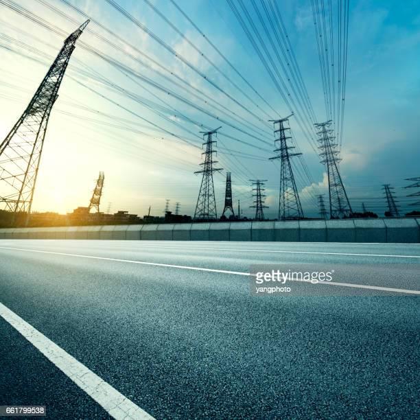 Pylon and road