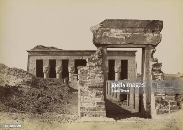 Pylon and Temple of Dendera / Pylone et Temple de Denderah, Antonio Beato , 1880 - 1889, Albumen silver print, 25.9 x 35.8 cm