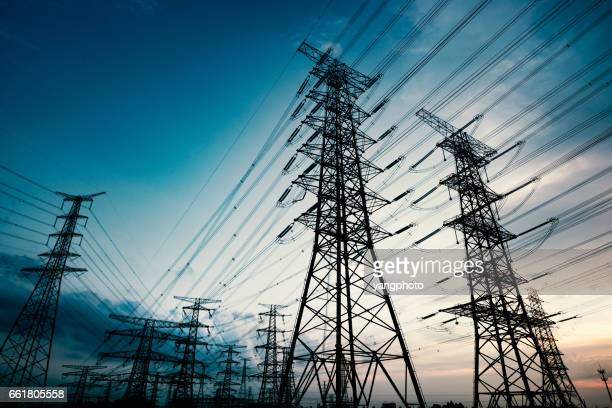 pylon - electricity stock pictures, royalty-free photos & images