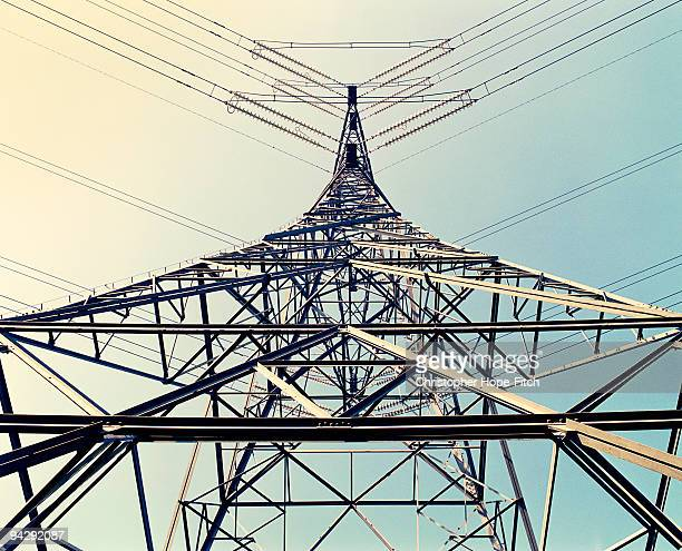 pylon - power line stock photos and pictures