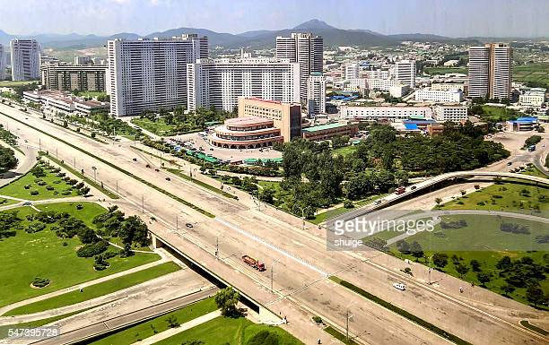 Pyongyang city overpass construction,On August 8, 2016