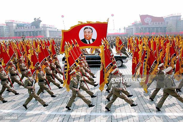 Pyongyang DEMOCRATIC PEOPLE'S REPUBLIC OF This 25 April 2007 picture released from Korean Central News Agency 26 April shows North Korean soldiers...