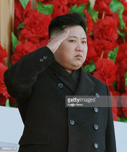 Pyongyang North Korea File photo shows North Korean leader Kim Jong Un saluting during a military parade in Pyongyang in February 2012 to mark the...