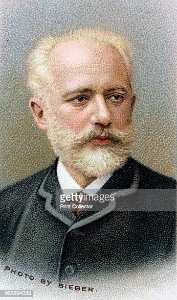Pyotr Ilyich Tchaikovsky 19th century Russian composer 1912 From Musical Celebrities series of cards issued by WD HO Wills