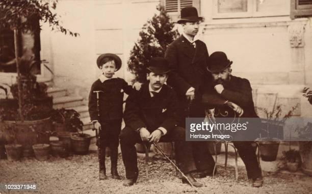 Pyotr Tchaikovsky Modest Tchaikovsky Nikolai Conradi and Alexey Sofronov 1878 Found in the Collection of State P Tchaikovsky Memorial Museum Klin