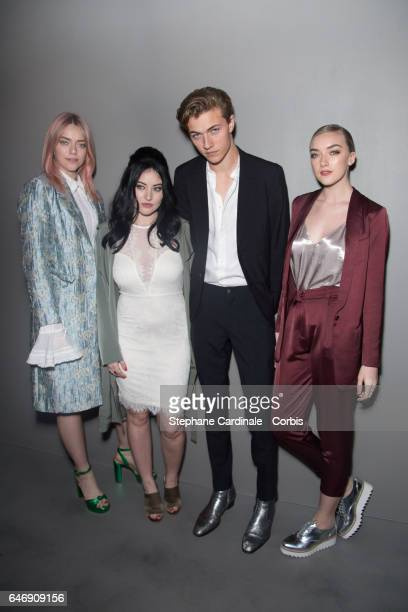 Pyper America Smith Starlie Smith Lucky Blue Smith and Daisy Smith of The Atomics attend the HM Studio show as part of the Paris Fashion Week on...