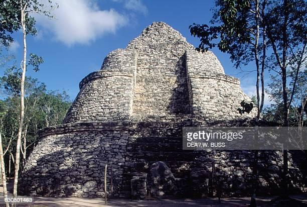 Pyramid Coba archaeological site Quintana Roo Mexico Maya civilisation 9th12th century