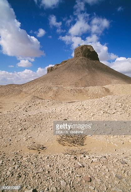 Pyramid of Amenemhat III or Black Pyramid Dahshur Necropolis Memphis Egypt Egyptian civilisation Middle Kingdom Dynasty XII