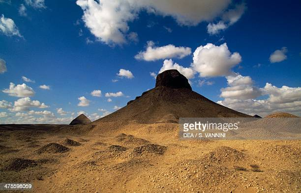 Pyramid of Amenemhat III or the Black Pyramid Dahshur Necropolis Memphis Egypt Egyptian civilisation Middle Kingdom Dynasty XII
