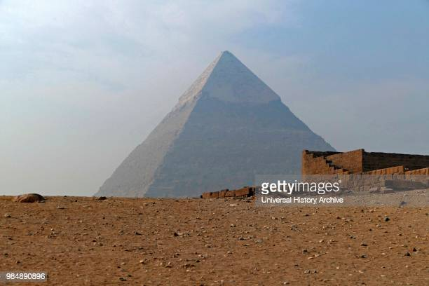 Pyramid of Khafre or of Chephren is the secondtallest and secondlargest of the Ancient Egyptian Pyramids of Giza and the tomb of the FourthDynasty...