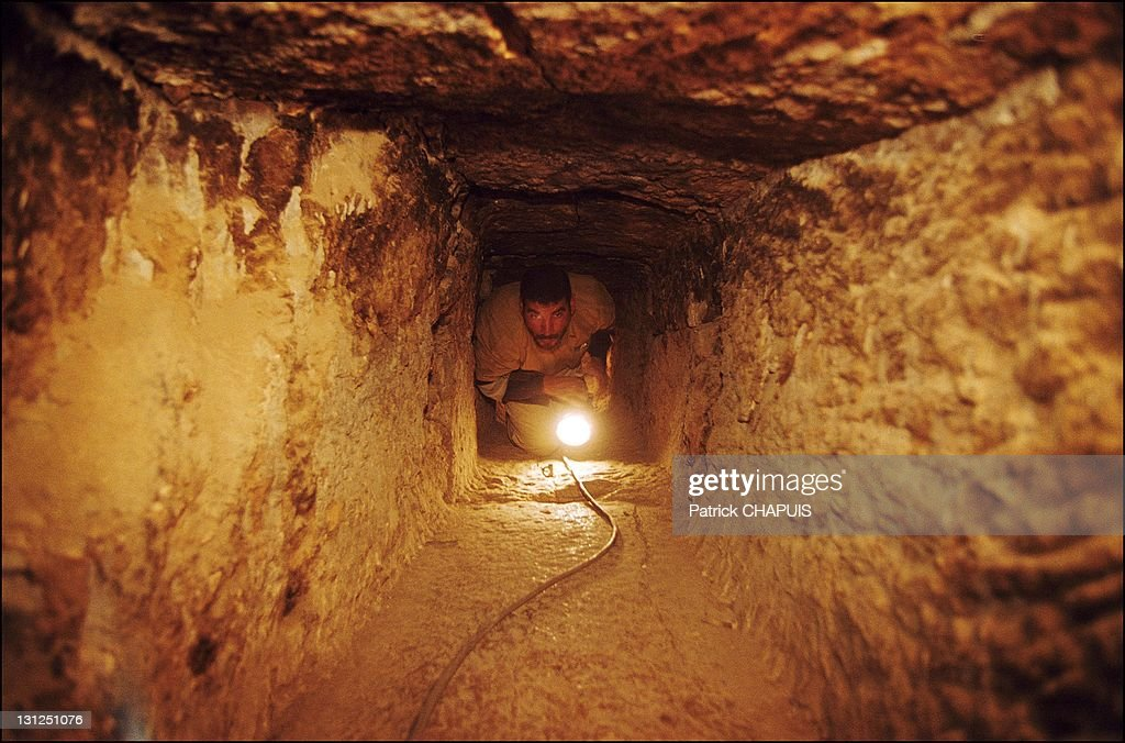 Inside The Pyramid Of Kheops. : News Photo