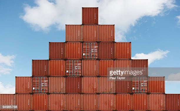 Pyramid of Shipping Containers
