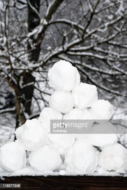 Pyramid of snowballs