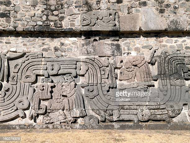 pyramid of the feathered serpent - cuernavaca stock photos and pictures