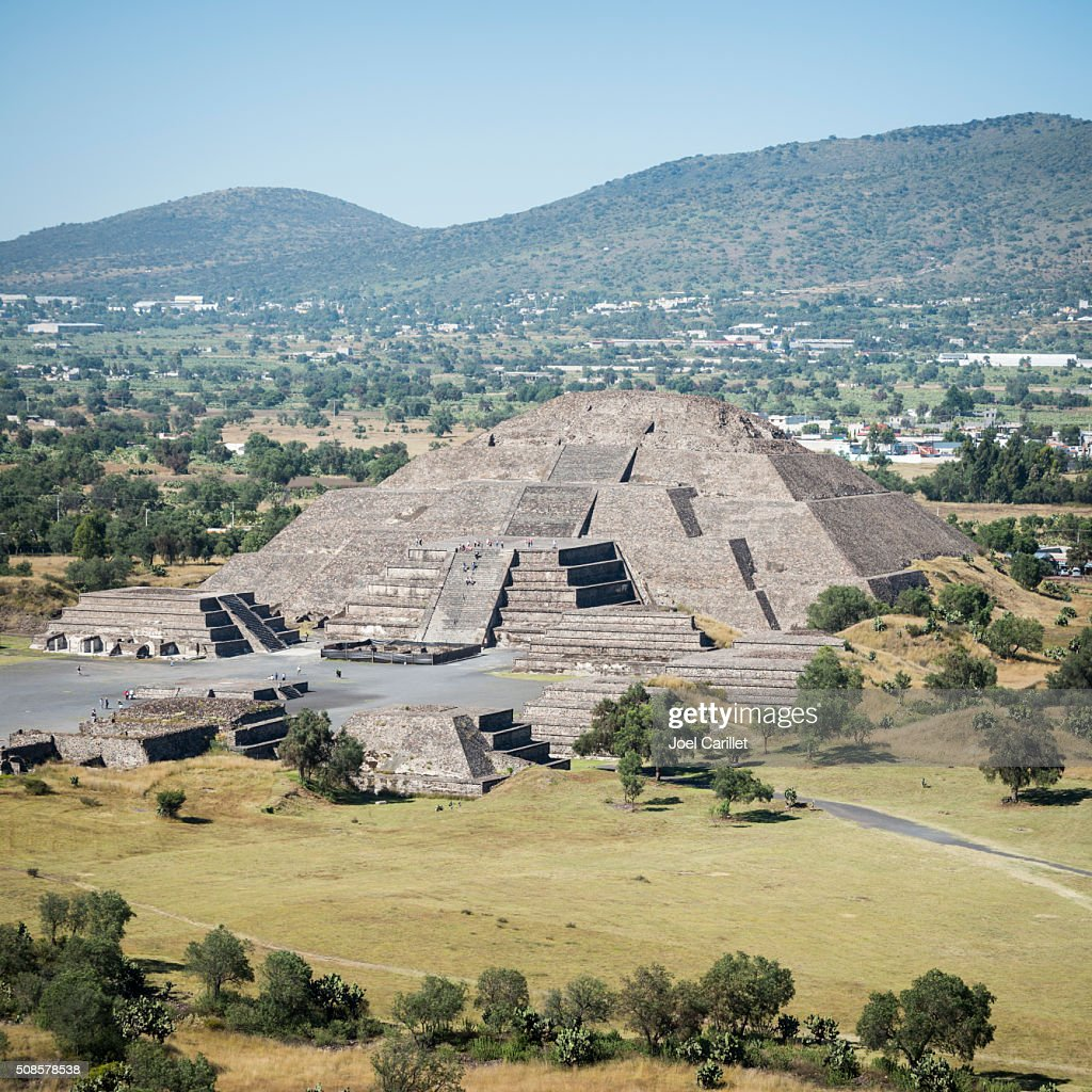 Pyramid of the Moon in Teotihuacan, Mexico : Stock Photo