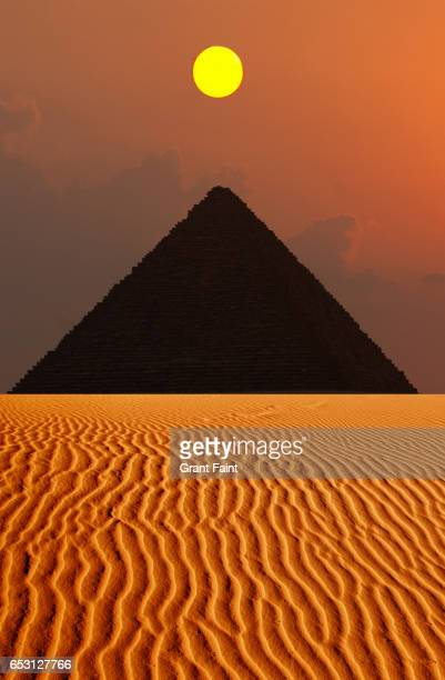 pyramid. - giza pyramids stock pictures, royalty-free photos & images