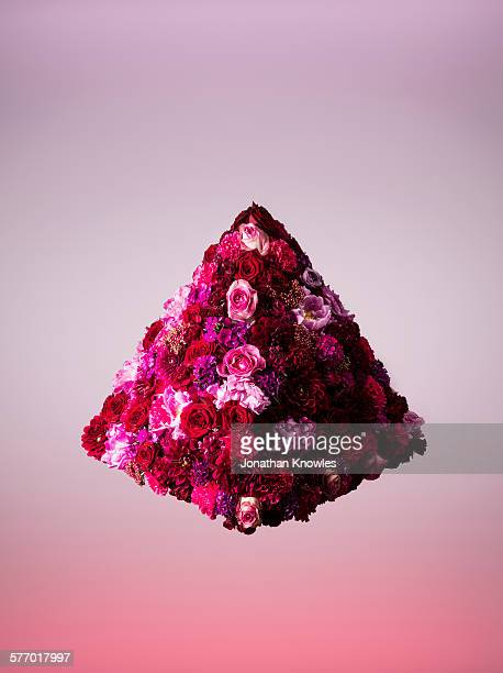 Pyramid shaped floral arrangement