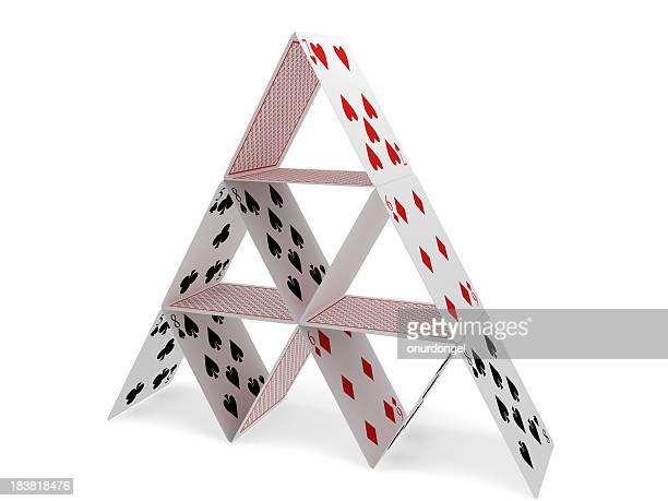 Pyramid with Playing Cards