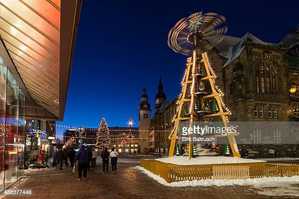 Pyramide im weihnachtlichen Chemnitz