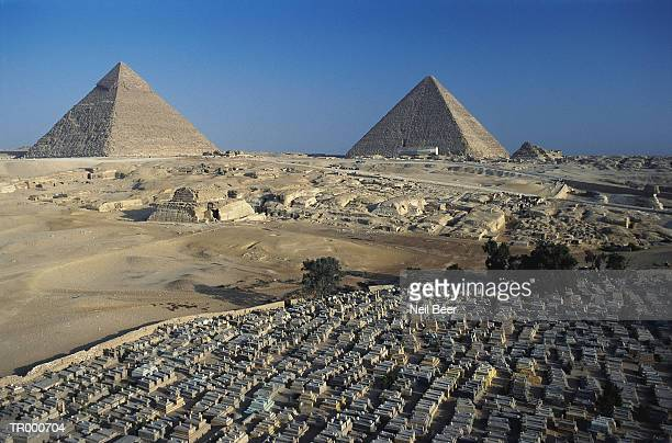 Pyramids at Giza with Graveyards