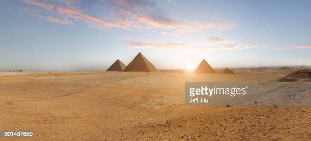 pyramids  in cairo, egypt - egypt stock pictures, royalty-free photos & images