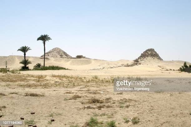 "pyramids of abusir, ""the house or temple of osiris"", egypt - argenberg bildbanksfoton och bilder"