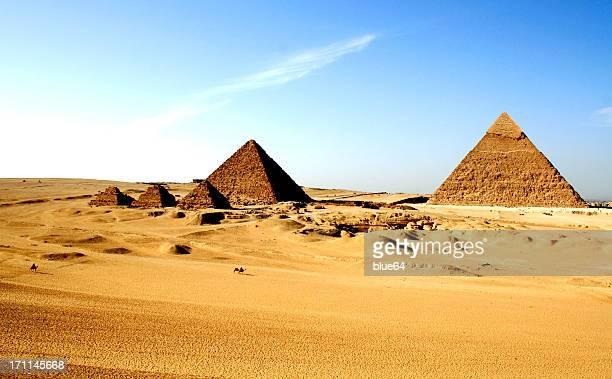 die pyramiden von ägypten - ägypten stock-fotos und bilder