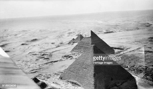 Pyramids of Giza Egypt 1931 Part of the Memphis and its Necropolis World Heritage Site The three pyramids of great pharaohs Khufu Khafre and Menkaure...