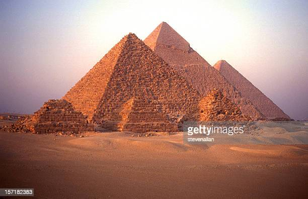 pyramids of giza - giza pyramids stock pictures, royalty-free photos & images