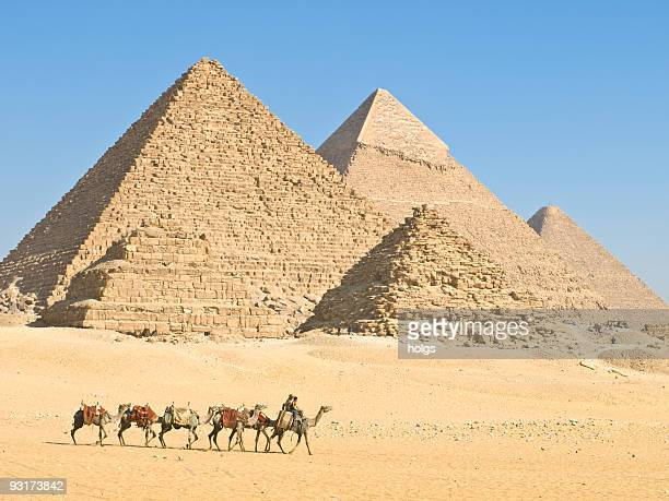 pyramids of giza - giza stock pictures, royalty-free photos & images