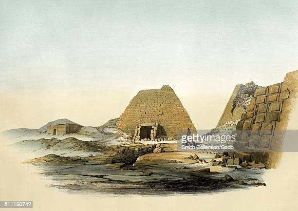 Pyramids of Meroe Egypt 1852 From the New York Public Library