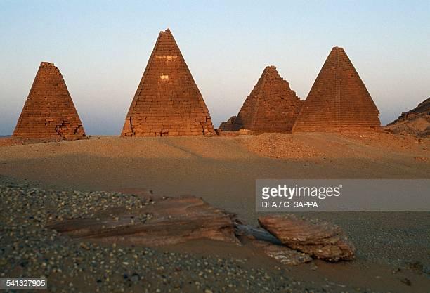 Pyramids of the black pharaohs at Nuri 720640 BC Nubia Egyptian civilisation Sudan 8th7th century BC