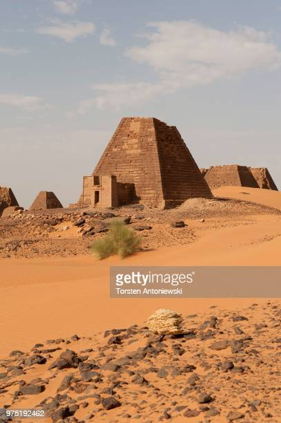 Pyramids of the northern cemetery of Meroe, Nubian Desert, Nubia, Nahr an-Nil, Sudan