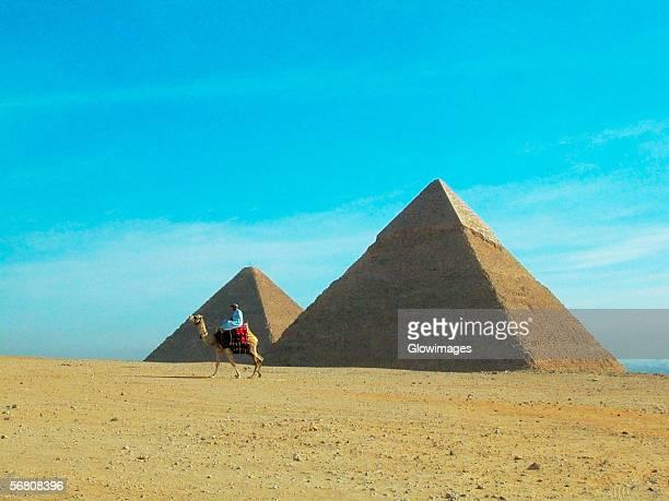 Pyramids on a landscape, Giza Pyramids, Giza, Cairo, Egypt