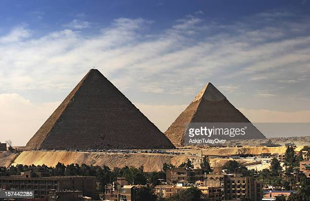pyramides - pyramid shapes around the house stock pictures, royalty-free photos & images